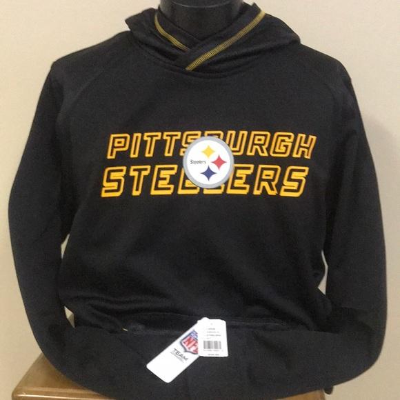 timeless design bf5d9 a90ef 🆕 PITTSBURGH STEELERS black hoodie sweatshirt NWT